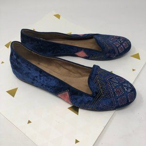 Style & Co Alysonn Blue Embroidered Smoking Flat